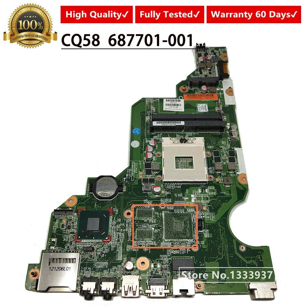 687701-501 687701-601 687701-001 اللوحة الأم ل hp كومباك CQ58 CQ58-2000 اللوحة المحمول SLJ8F DDR3 100% اختبار جيد