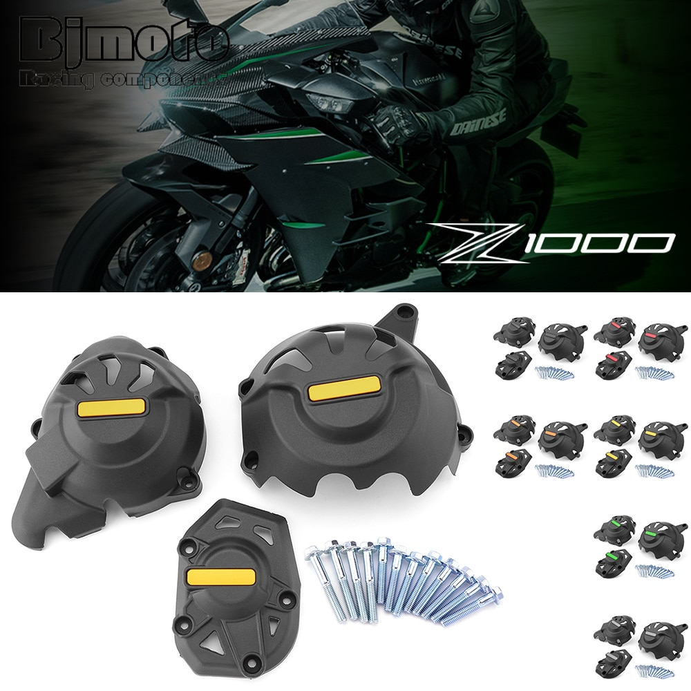 Motorcycle Engine Protective Cover Fairing Guard Sliders Crash Pad For Kawasaki Z1000 Z1000SX 2010-2019 motorcycle frame slider protector for kawasaki z1000 z1000sx z1000 sx 2010 2019 z900 2017 2018 2019 cnc aluminum engine guard