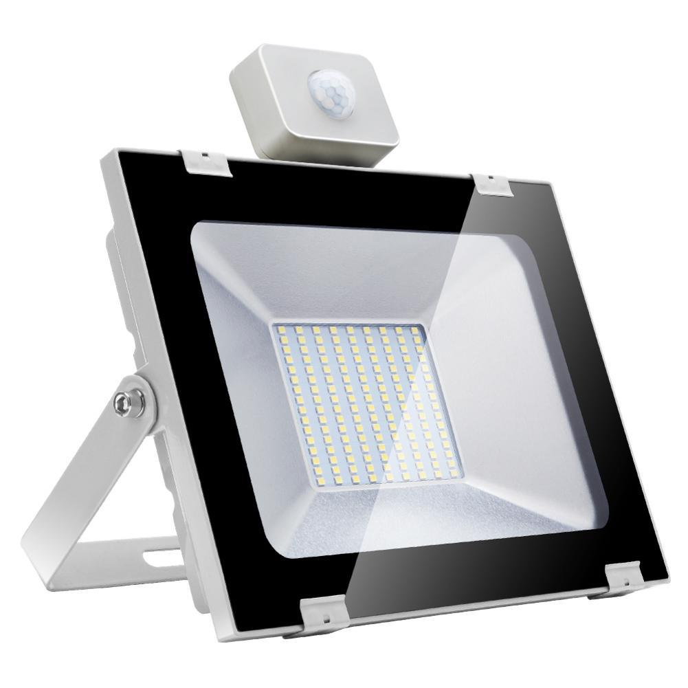 100W 220V Utrathin blanco frío 5th Genreration LED Luz de inundación con Sensor al aire libre impermeable reflector Led