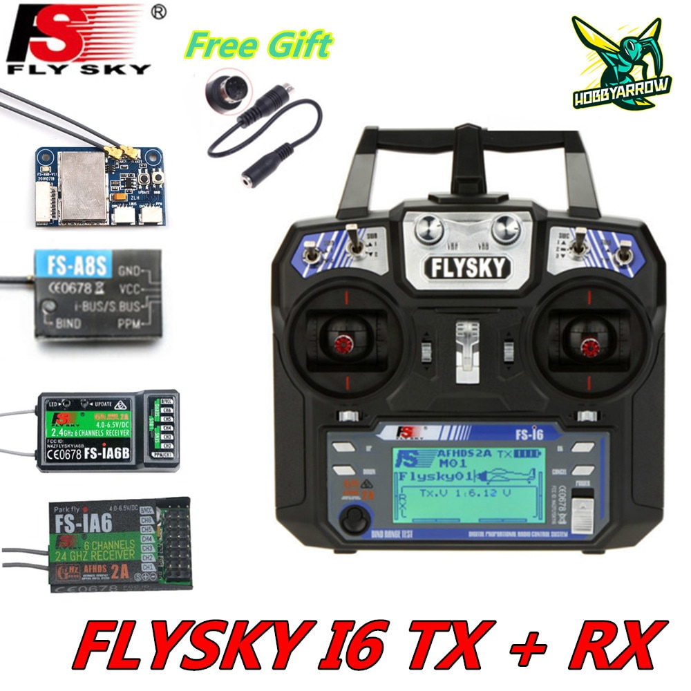 FLYSKY FS-i6 i6 2.4G 6CH AFHDS Transmitter With iA6B X6B A8S R6B iA10B Receiver Radio Controller for