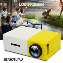 YG300 LCD projecteur Mini projecteur Led HD 1080P résolution Ultra Portable Home cinéma 2020 Compatible HDMI téléphone Portable Etc.