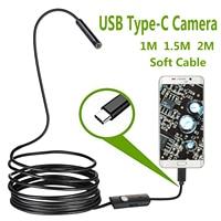 Камера для осмотра, водонепроницаемая IP67 USB C бороскоп Type-C для Samsung Galaxy S9/S8 Google Pixel Nexus 6p