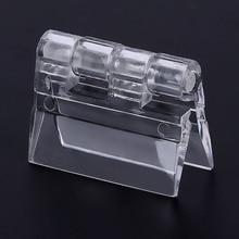 Charnières pliantes transparentes en plastique, en acrylique Transparent, durables, outils, charnières de meuble 10 pièces/paquet