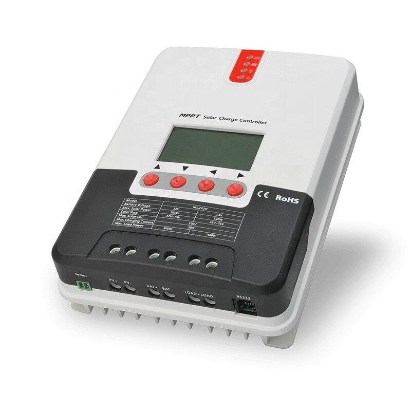 Lovsun أفضل نوعية mppt 60a قبالة الشبكة الشمسية جهاز التحكم في الشحن 40a 30a 20a بطارية تحكم