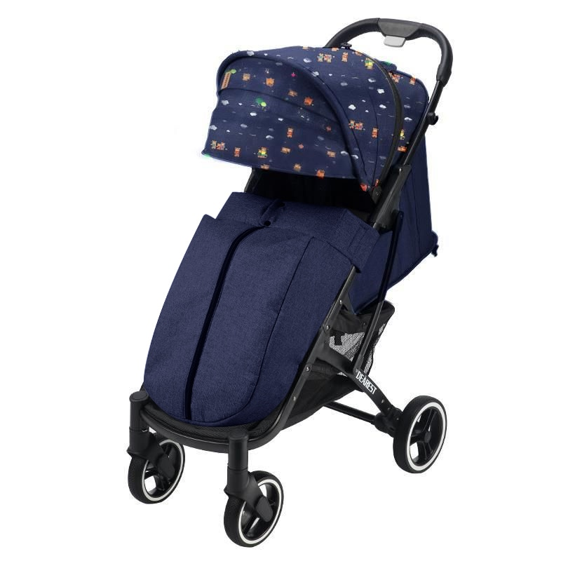 DEAREST 818+ One Hand Fold Baby Stroller With Zipper Footcover