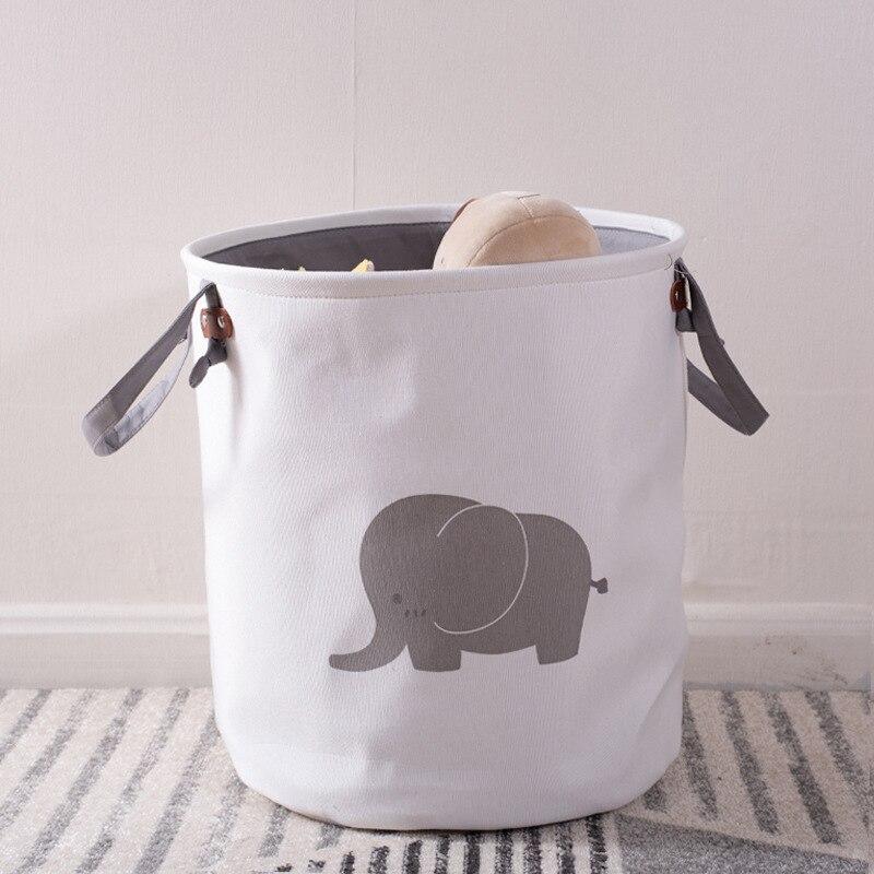 الكرتون سميكة للطي سلة التخزين لعبة طفل صندوق تخزين مضاد للماء مع مقبض الحطام المنزلية والملابس القذرة يعوق