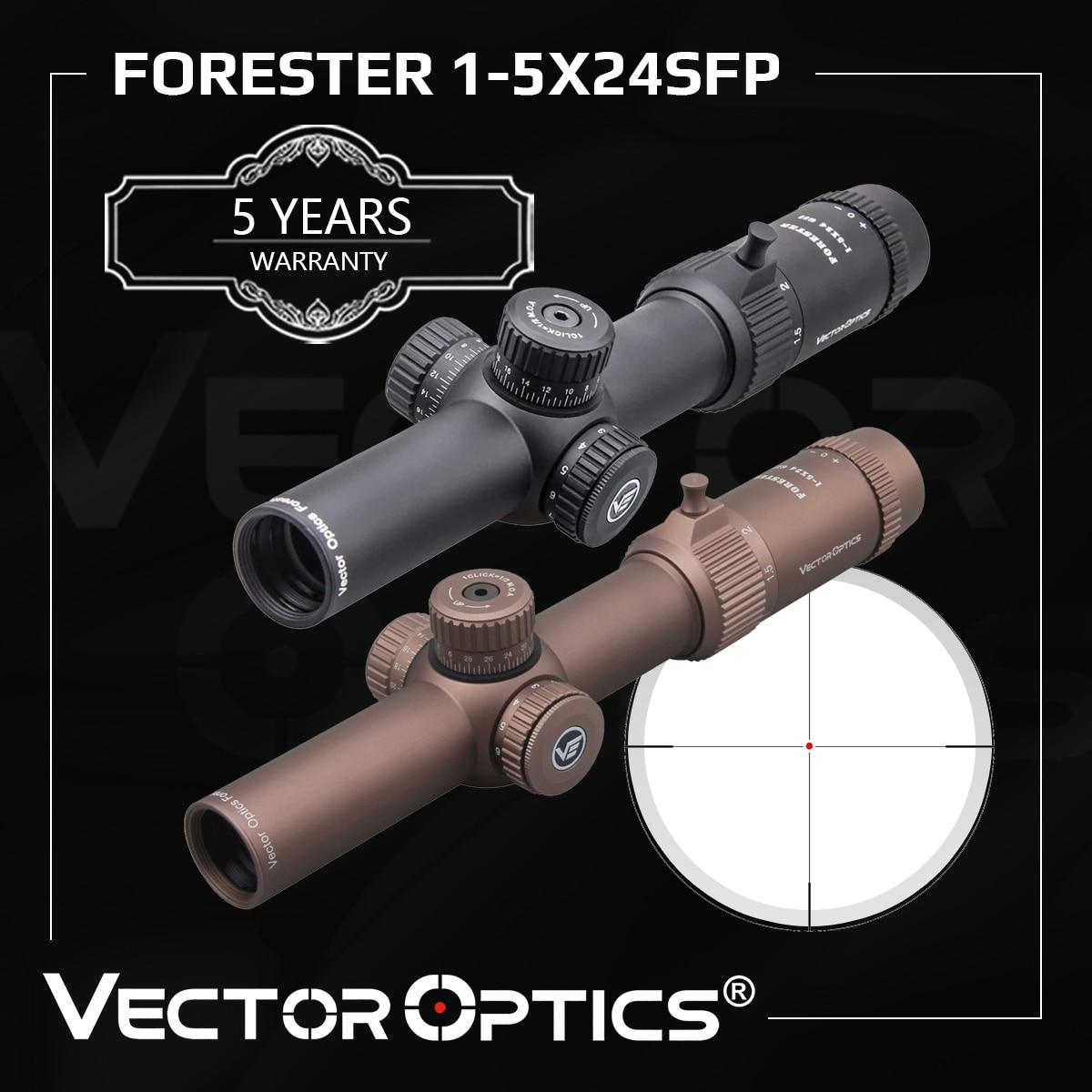 ناقلات البصريات GenII فورستر 1-5x24 Riflescope 30 مللي متر مركز نقطة مضيئة يناسب AR15 .223 7.62 مللي متر Airgun Airsoft نطاق الصيد