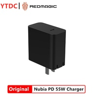 Original Nubia 55W PD Charger for Nubia RedMagic 5G Phone MAX output 55W Support Many Devices  65W GaN Charger Sliver Color