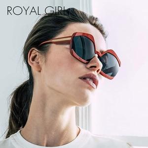 ROYAL GIRL 2020 New Irregular Oversized Sunglasses Wome Viantage PC+CP Frame Gradient Sun Glasses Female Fashion Accessory Ss357