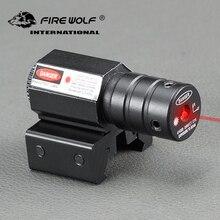 Feu loup Mini tactique 635-655nm point rouge Laser vue fusil pour pistolet ajuster 11mm & 20mm Picatinny Rail Laser pointeur