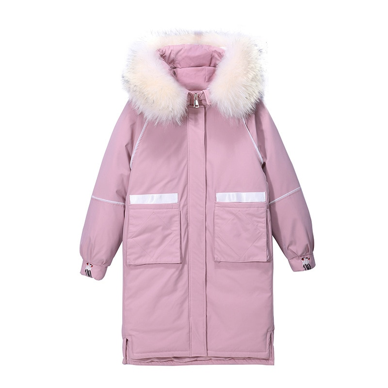 Ladies Coats New Winter Faux fur Collar Women Winter Coat Unique Embroidery pattern Thick Loose Jacket Cotton  Quilted coat