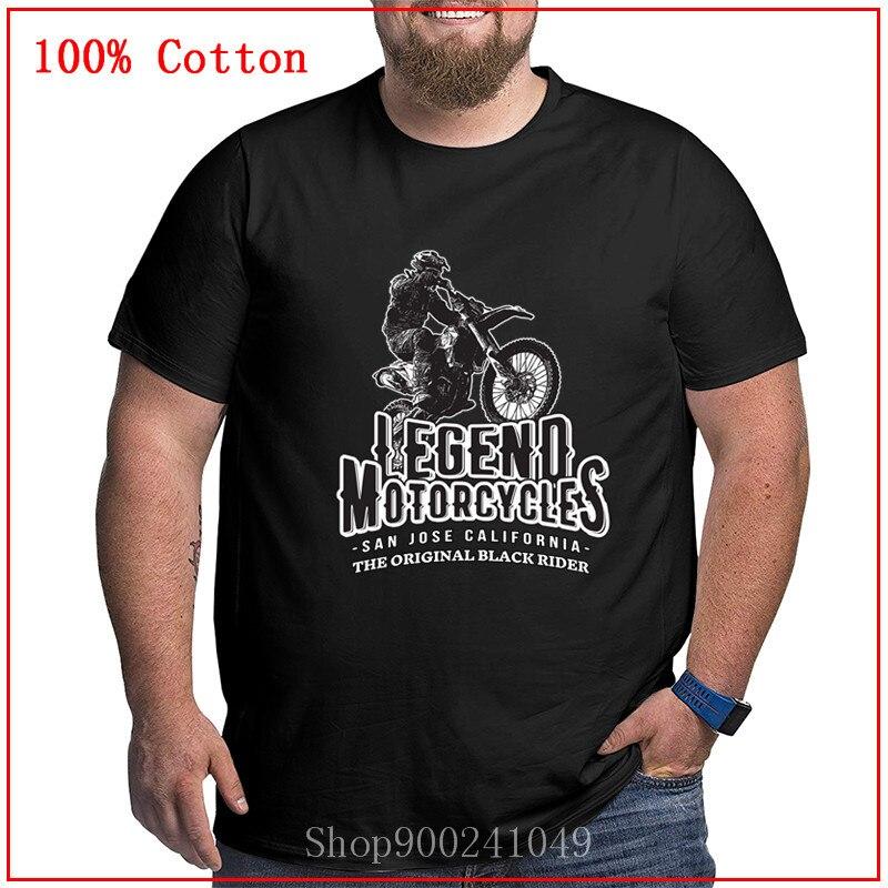 Vintage Legend motocicleta camisetas para hombres San Jose California original moto rider europeo dirtybike camiseta tamaño grande