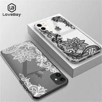 Чехол Lovebay для телефона iPhone 6s 7 8 Plus 11 12Pro X XR XS Max 5 5s SE, пикантный кружевной прозрачный мягкий чехол-накладка из ТПУ с цветком, чехлы