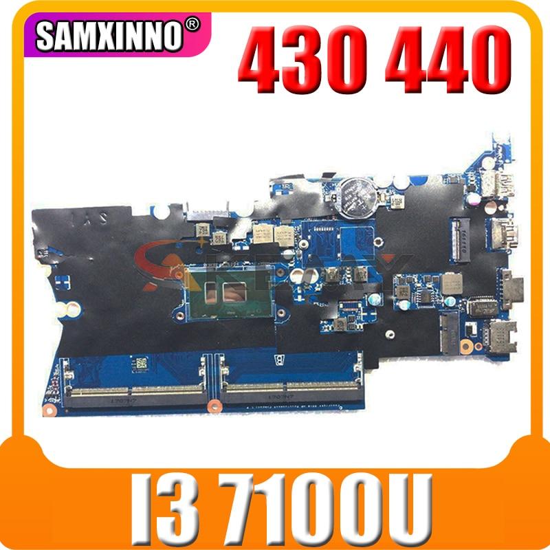 Akemy DA0X81MB6E0 905792-001 905792-601 For HP ProBook 430 440 G4 لوحة الأم للكمبيوتر المحمول I3 7100U DDR4 اختبار Ok الشحن السريع