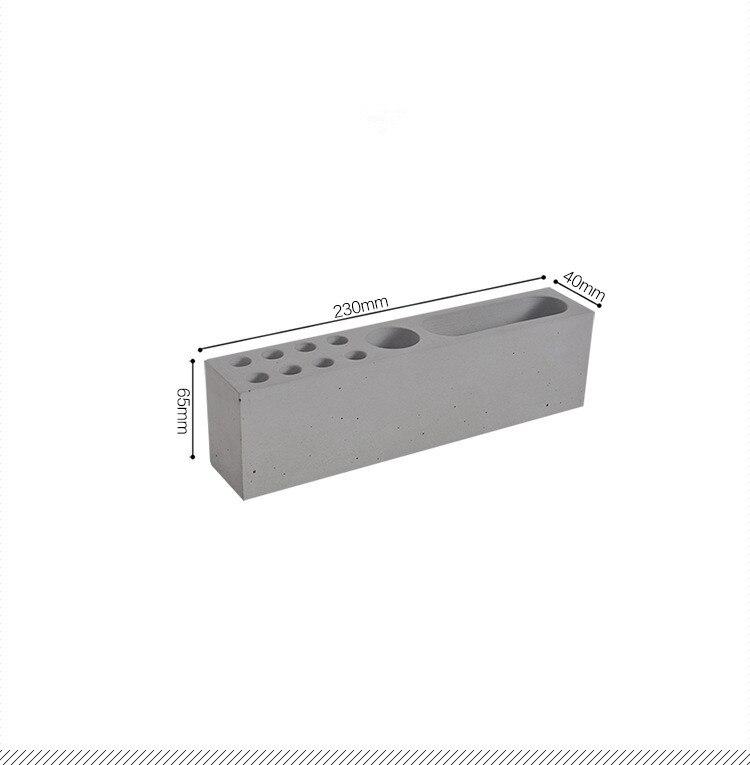 Molde de cremalheira de silicone penholder multihole para cimento escritório desktop ornamento caneta titular moldes argila gesso artesanato molde concreto
