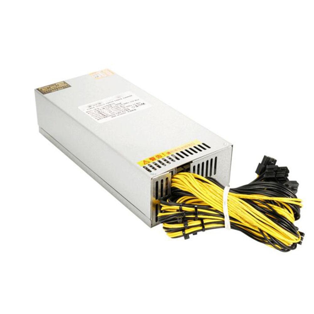 LIANLI واحد 2U 1800 واط التعدين إمدادات بطاقة الآلة 92% كفاءة 12000 دورة/دقيقة منجم امدادات الطاقة ل BTC/ETH/HUOBI/DOGE