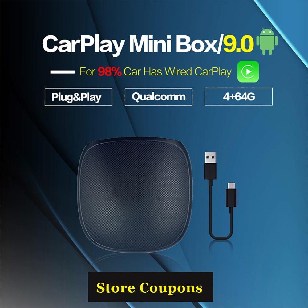 Carplay Mini Android Box беспроводной Carplay Ai Box Автомобильный мультимедийный плеер 4 + 64G Аудио навигация для Volvo Ford Benz Mazda
