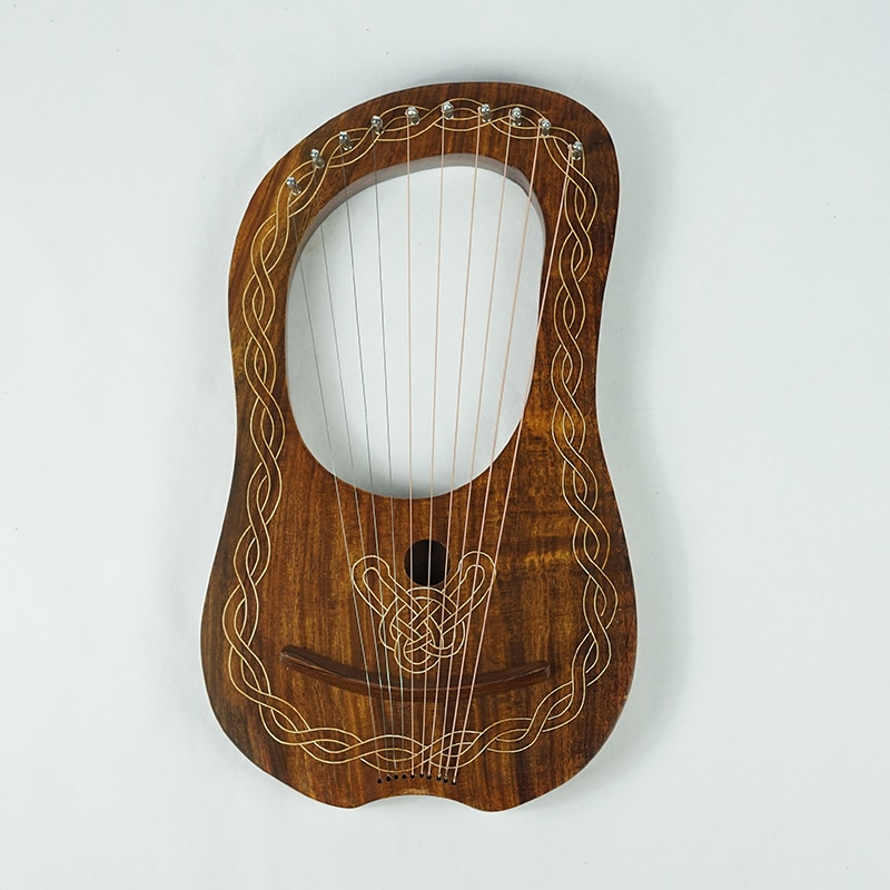 10 String Lyre Harp Musical Instrument Wooden Miniature Harp Music Accessories Instrumentos Musicales String Instruments EI50HP enlarge