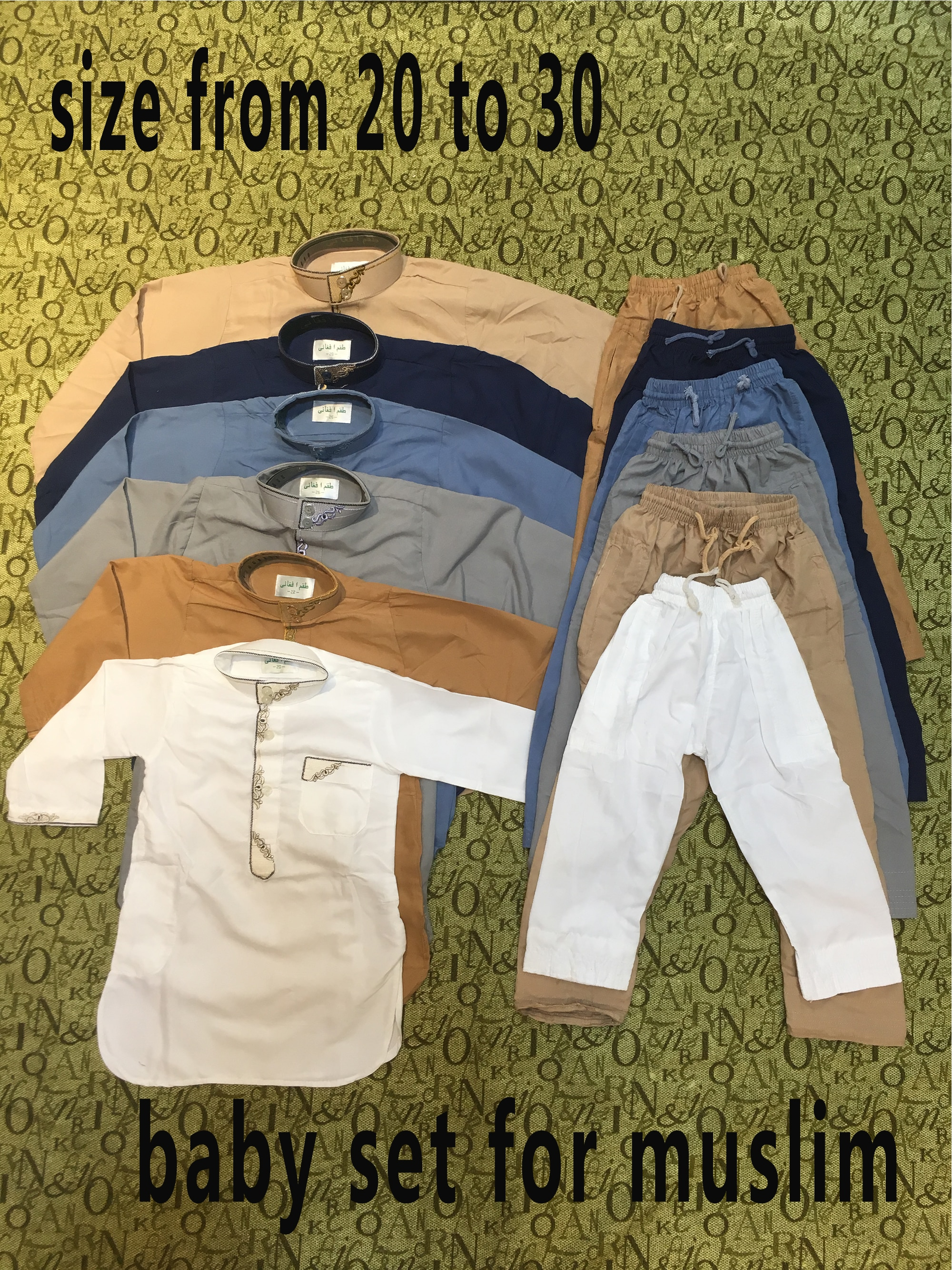 2020 Fashionable Jubba Thobe Embroidery 6 month to 5 years Qatar style Worship Suit for muslim aby boy to pray  Ramadan