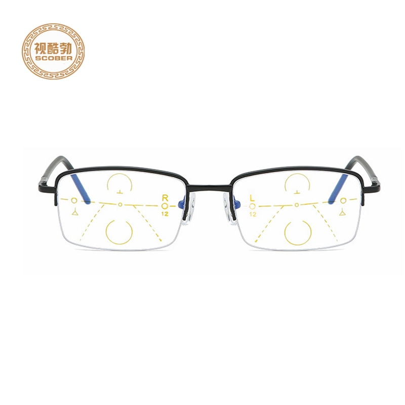 2019 Ultralight alloy Progressive multifocal reading glasses men smart zoom reading glasses women far near sight anti-blue Walking and Driving presbyopic glasses