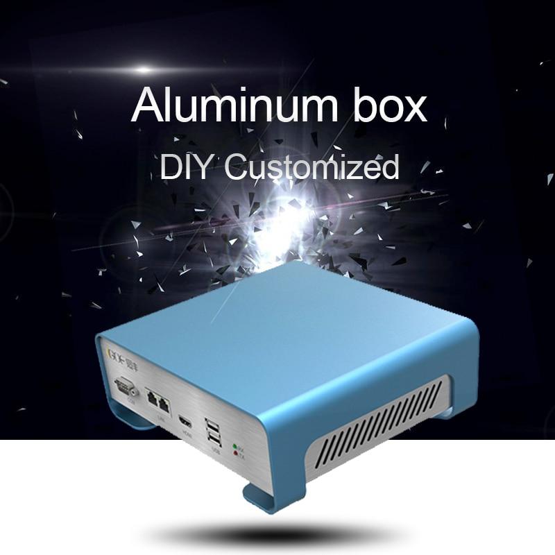 GOF-P01 208.4x71.5x189mm (WxH-D) مقذوف الألومنيوم ضميمة PCB أداة مربع DIY مشروع الإلكترونية حالة