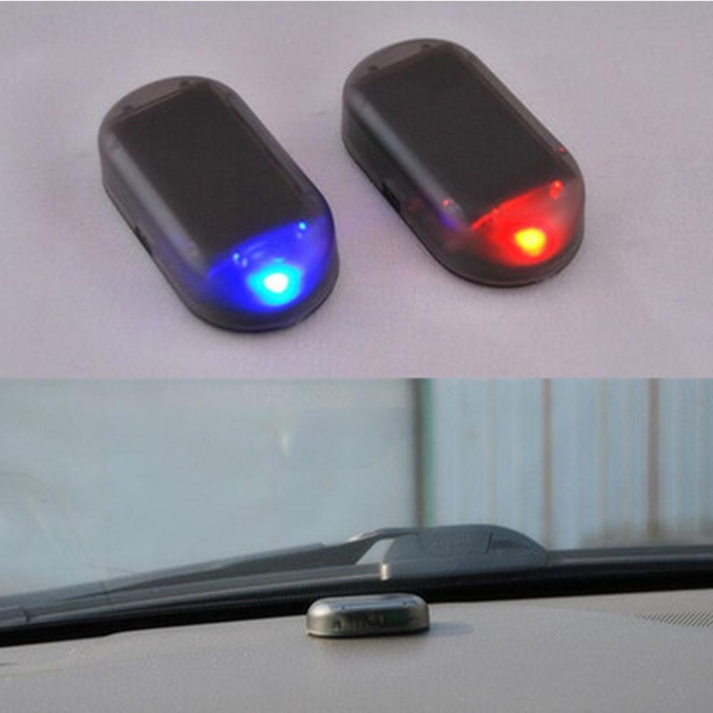 Car Fake Security Light Solar Powered Simulated Alarm Warning Anti-theft Lamp Automobiles Security Protection