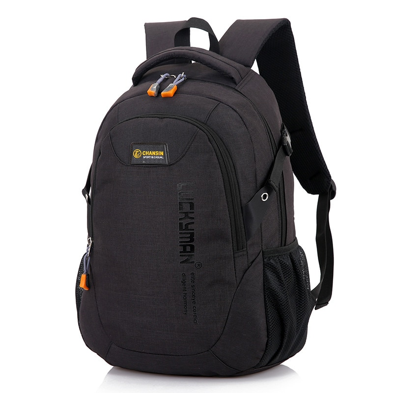 New Fashion Men's Backpack Leisure Outing Travel Computer Student Bag Multi-function Large-capacity