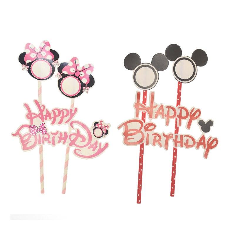 1 компл. Микки Минни Маус украшение для торта на день рождения на тему