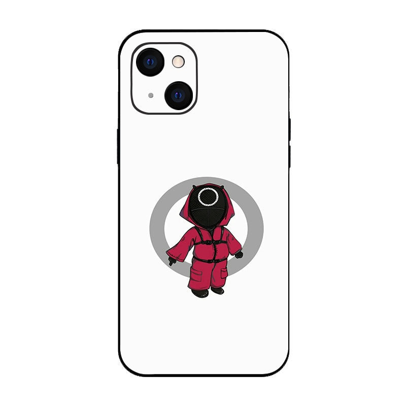 Squid Game Phone Case Pattern For iPhone 13 Pro Max Cute Business Cases Fashion Soft Shell Protective Cover For iPhone 13