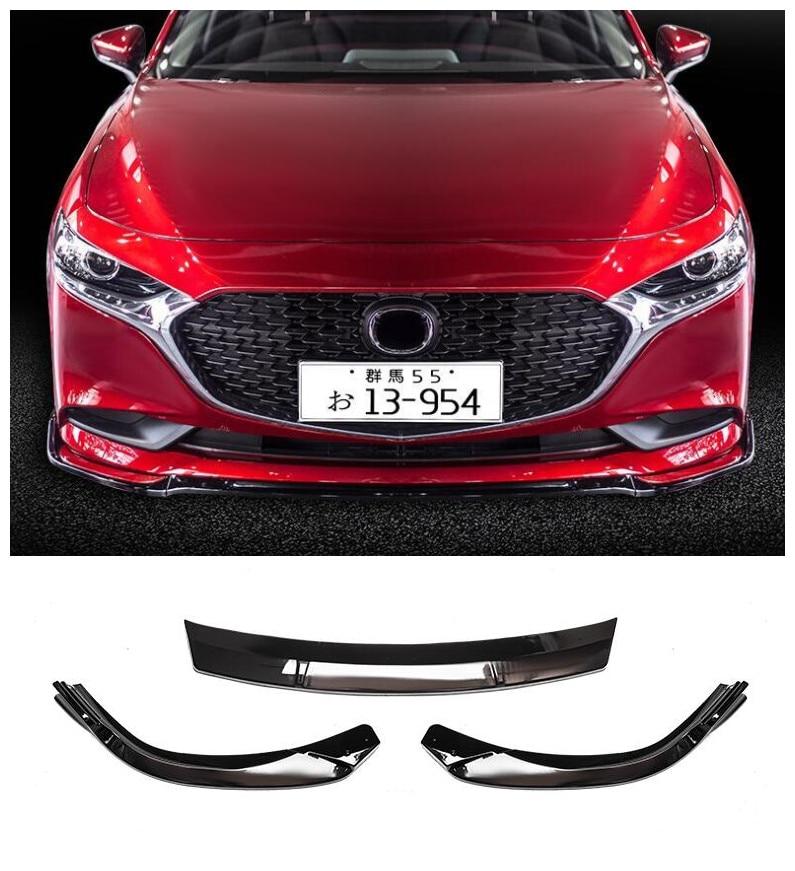¡Nuevo estilo de gran calidad! 3 uds./1 Juego de protectores de labios delanteros para parachoques de coche compatible con Mazda 3 Axela unksola 2020 2021