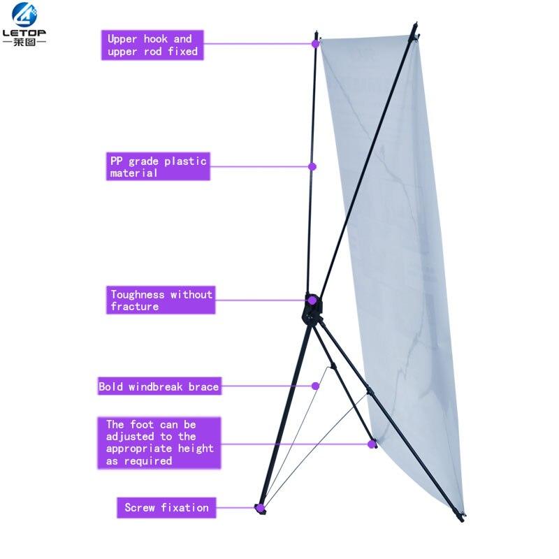 Muestra comercial interior al aire libre Corea x banner pantalla soporte Tamaño 60x160 cm 80x180 cm