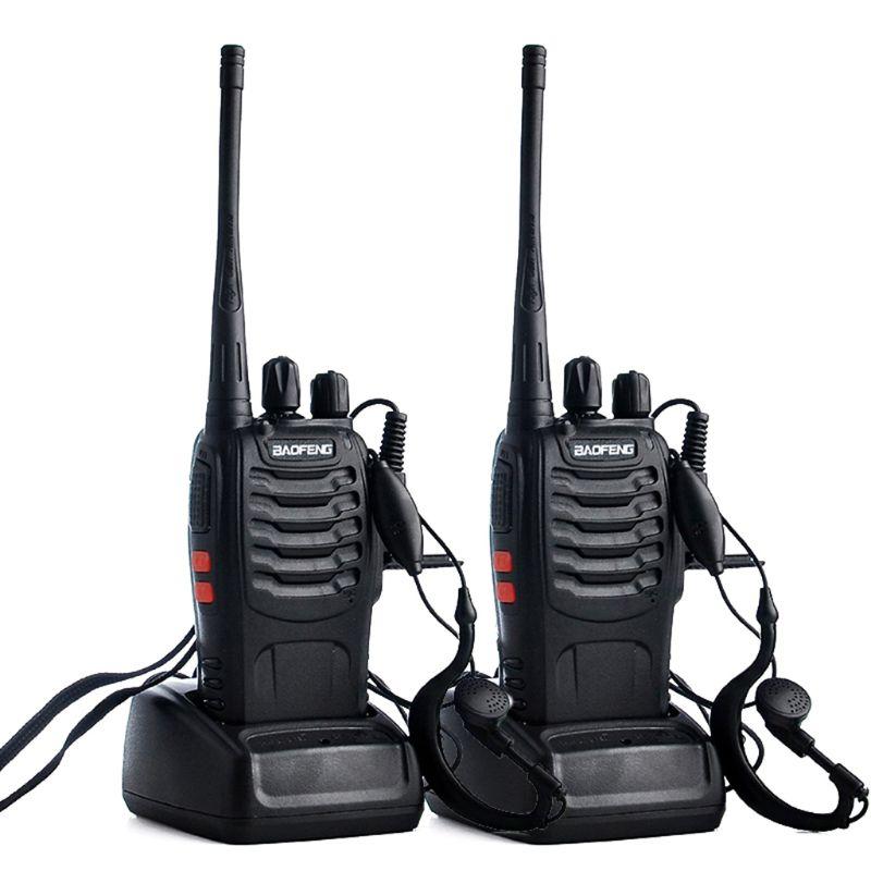 Портативная рация BAOFENG 888s 400-470 МГц 16 каналов, портативная рация с наушником, 2 шт./лот