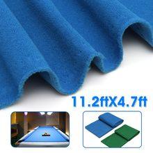 11.2X4.7ft tela de billar verde/azul billar piscina ocho bolas billar mantel de billar para accesorios de billar americano