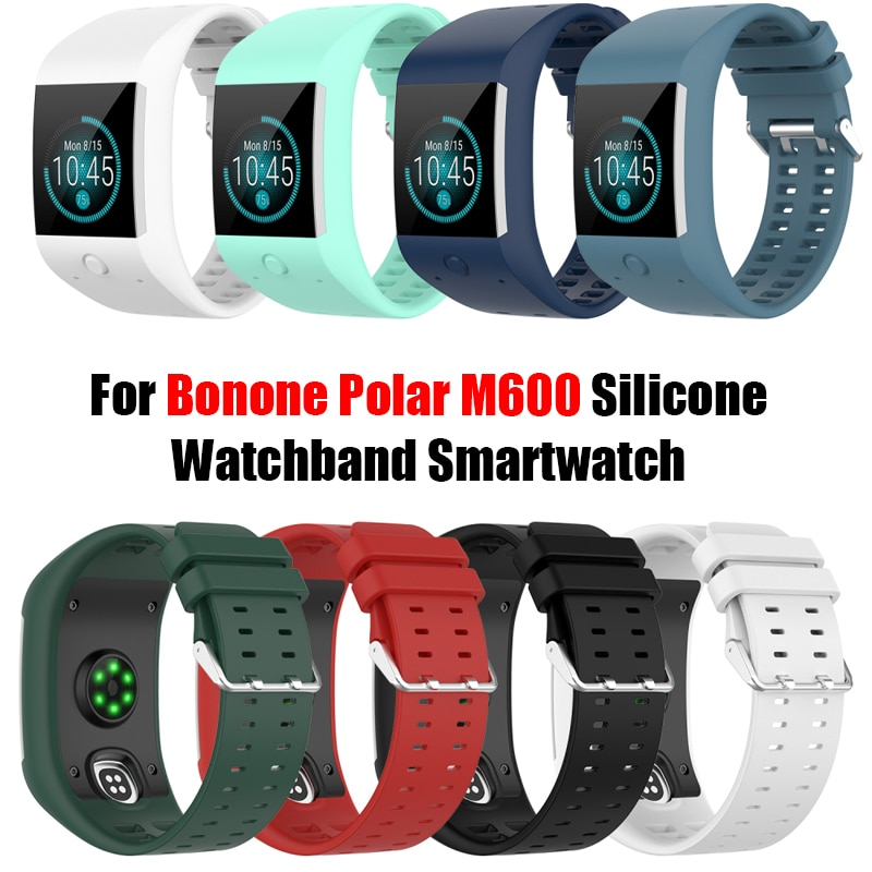 2021 Newest For Bonone Polar M600 Silicone Watchband Smartwatch Replacement Wristband Wearable Devices Smart Accessories
