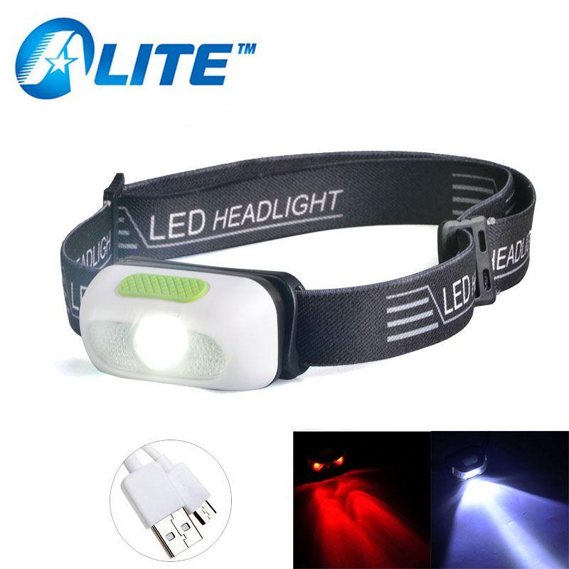 Linterna frontal recargable por USB TMWT resistente al agua 5W Cree LED faro superbrillante para correr Camping lectura