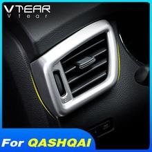 Vtear for Nissan Qashqai J11 dualis air outlet cover car decoration air vent net trim interior car-styling accessories part 2019