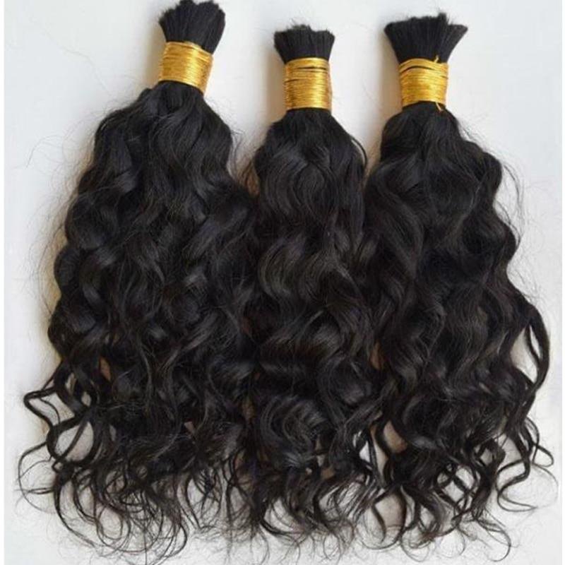 Короткие бразильские свободные волнистые волосы оптом 1/3 шт./лот влажные и волнистые человеческие волосы оптом для плетения без уточных кос...