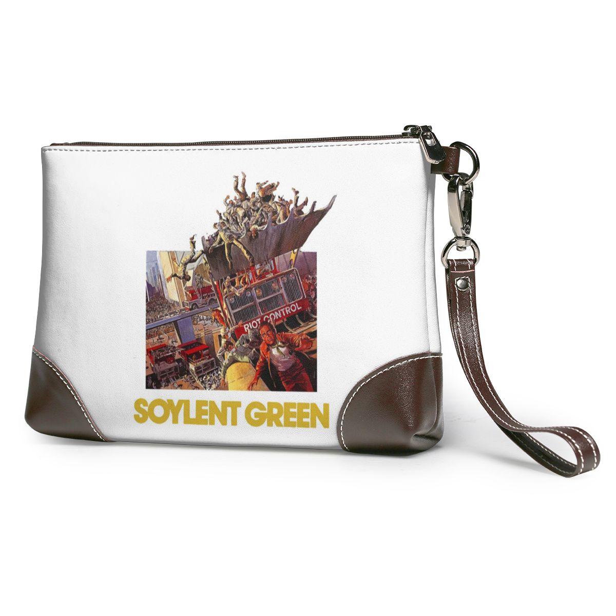 Monster Hunter Clutch Bag Unique Genuine Leather Clutch Purse Summer Long Strap Bulk Wallet