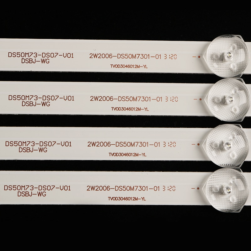50pcs LED Backlight strip for 49inch 50 inch akai aktv505 TV DS50M73-DS07-V01 DSBJ-WG 2W2006-DS50M7301-01 enlarge