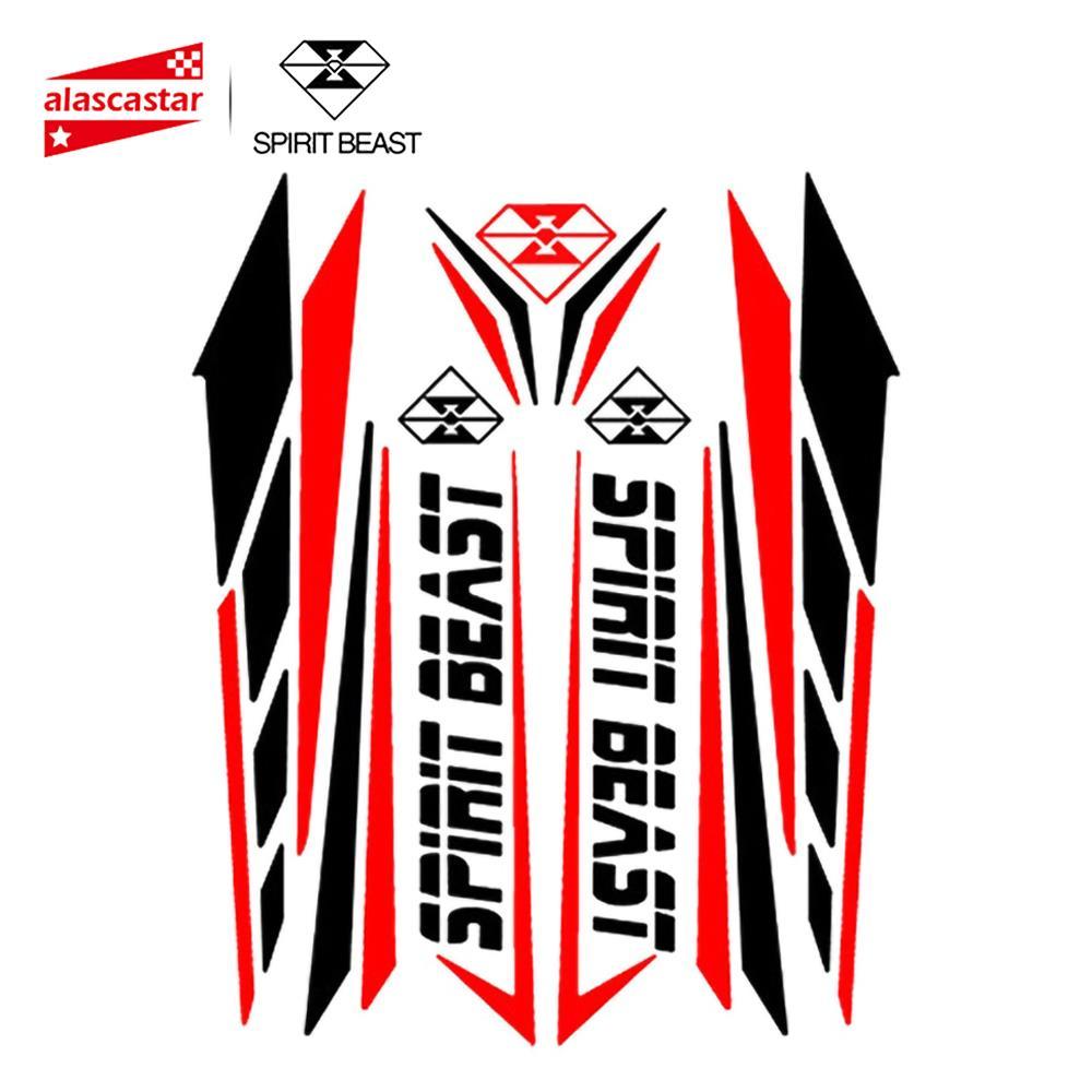 Pegatina de Moto SPIRIT BEAST, almohadilla de tanque para Moto Feul, Pegatinas de Moto, Protector de motocicleta para Honda Yamaha Kawasaki