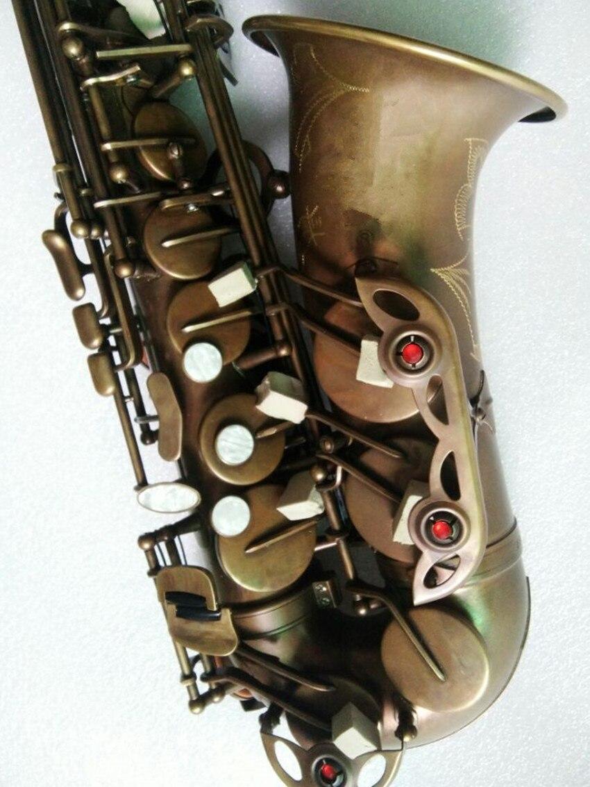 Qualidade da Marca Bocal e Case Alta Alto Saxofone Antigo Cobre B-flat Sax Retro Bronze