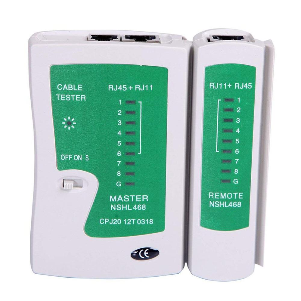 Probador de Cable de red Lan prueba Rj45 Rj-11 Cat5 Utp Ethernet herramienta Cat5 6 E Rj11 8P probador de Cable de red portátil