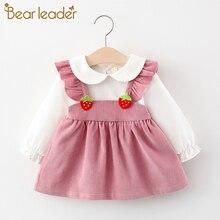 Ours Leader nouveau-né bébé princesse robes nouveau automne enfant en bas âge filles Stawberry robes doux volants vêtements décontracté enfants tenues
