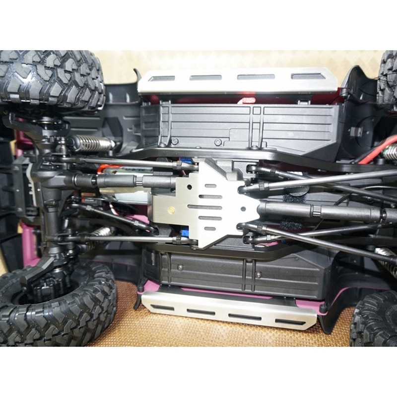 Stainless Steel Anti-Wear Pedal + Upper Pedal Protection Skid Plate Set for 1/10 RC Crawler TRAXXAS TRX-4 enlarge