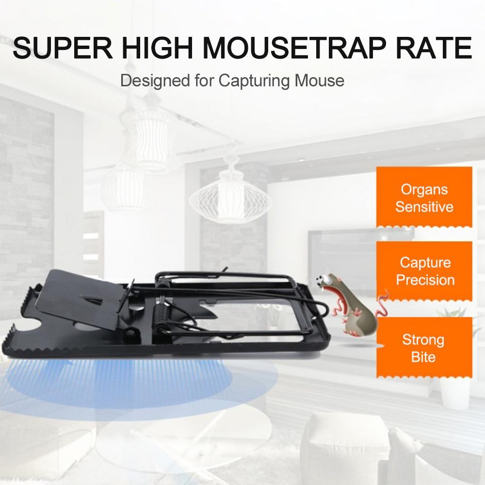 Trampa de ratón Catcher roedor trampas de ratones Control ratones Snap matar trampa roedor asesino reutilizable cubierta ratón Catcher