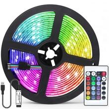 LED Strip Light RGB 5050 Luz Fita Bluetooth USB Remote Control Flexible Lamp Halloween Christmas Par