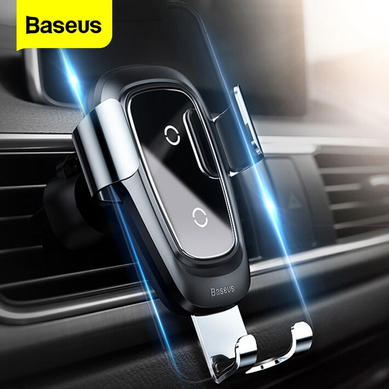 Baseus-شاحن سيارة لاسلكي Qi ، لهاتف iPhone 11 Pro Xs Max X 10w ، شحن سريع لشاومي Mi 9 Samsung S10 S9