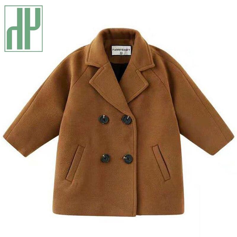 Куртка твидовая для маленьких мальчиков и девочек, длинное двубортное теплое пальто с лацканами, твидовое пальто, верхняя одежда на весну, о...
