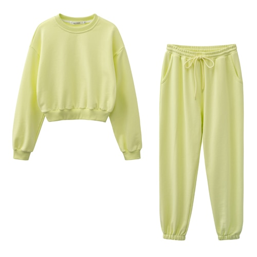 New design Women fashion sweatshirt sets Casual Spring Summer  top pants suit Cotton