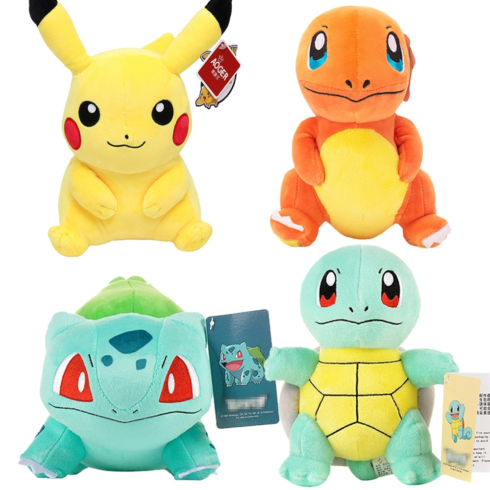 Charmander Squirtle Pikachued Bulbasaur Jigglypuff Lapras Eevee anime pokemoned stuffed toy Peluche